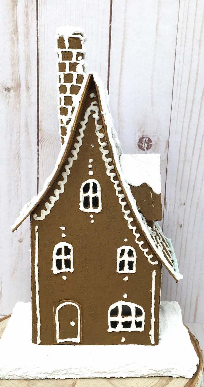 Gingerbread Storybook Cottage cardboard putz house