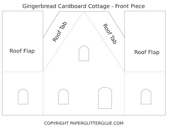 Gingerbread cardboard cottage front pdf
