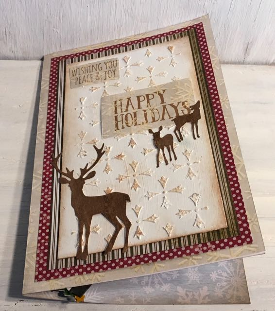 Gingerbread house popup card with deer on front #gingerbreadhouse #christmascard #popupcard #papercraft