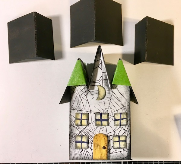 Glue roof pieces on Triple Gable Gothic