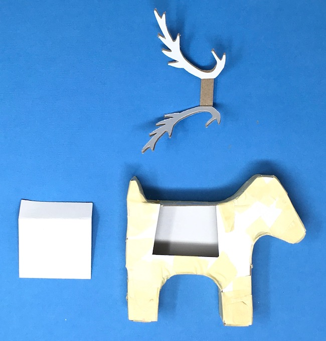 Glue two layers of antlers together favor box