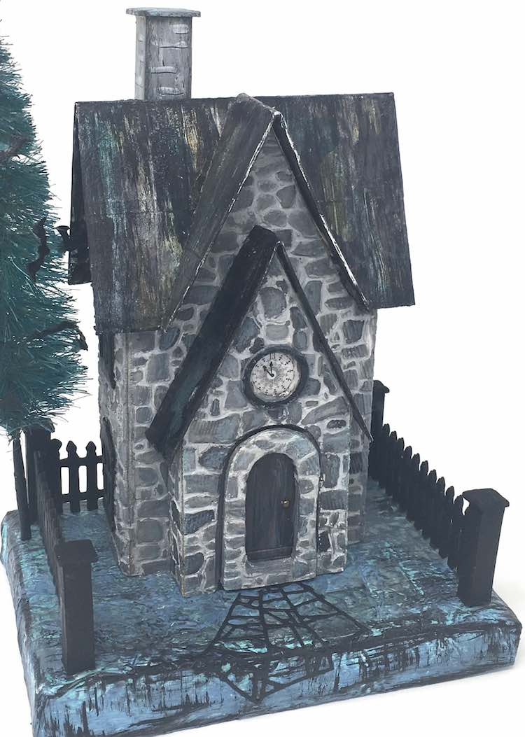 Greystone Clock House Paper Halloween House