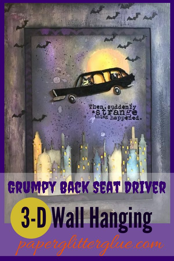 Grumpy Back Seat Driver 3-D Halloween Wall Art