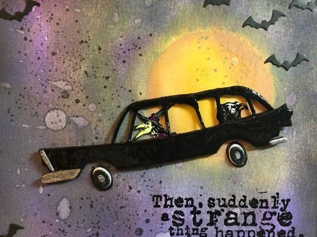 Grumpy driver on the Halloween wall art
