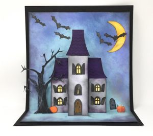 Halloween Holiday Manor pop-up card
