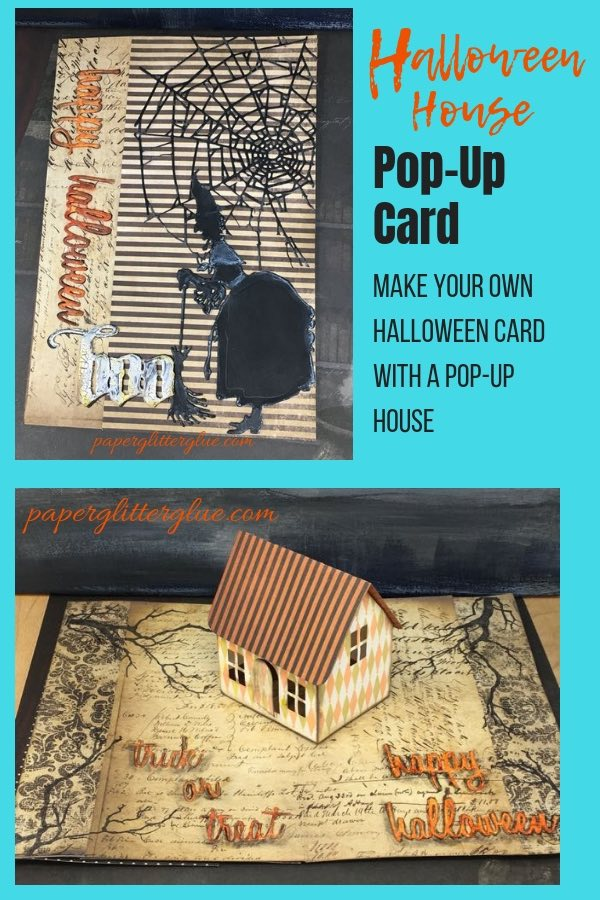 Halloween House Village Dwelling Pop Card for Halloween #timholtz #popupcard #halloweencard