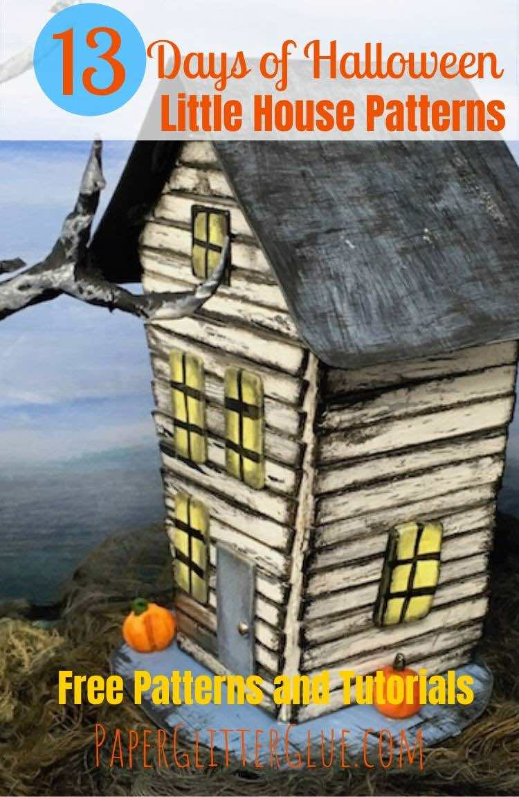 Halloween House No. 6 free template tutorial