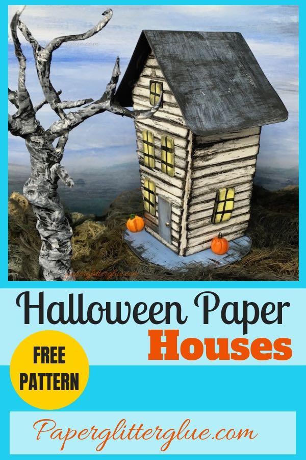 Halloween Paper House No. 6 #diyhalloween #halloweenhouse