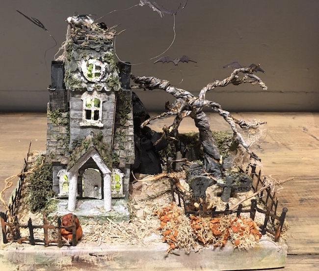 Halloween House contest entry from Sharon