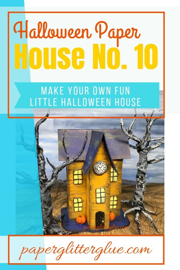 Halloween Paper House No. 10 - miniature Halloween house to make for your Halloween village