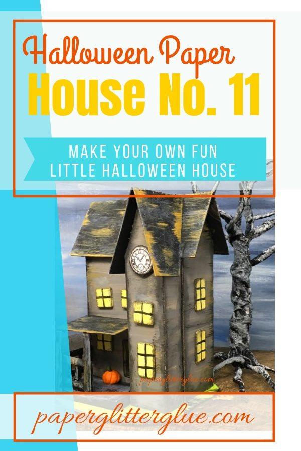Halloween Paper House - the Haunted Boarding House for your Halloween village