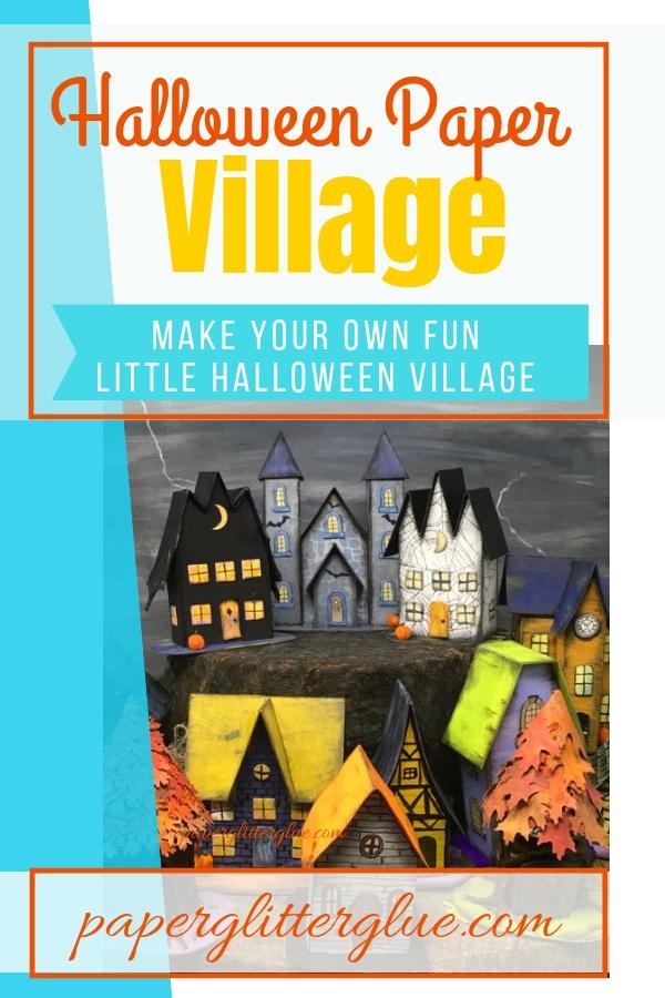 Halloween Paper Village printable patterns templates #halloweencrafts