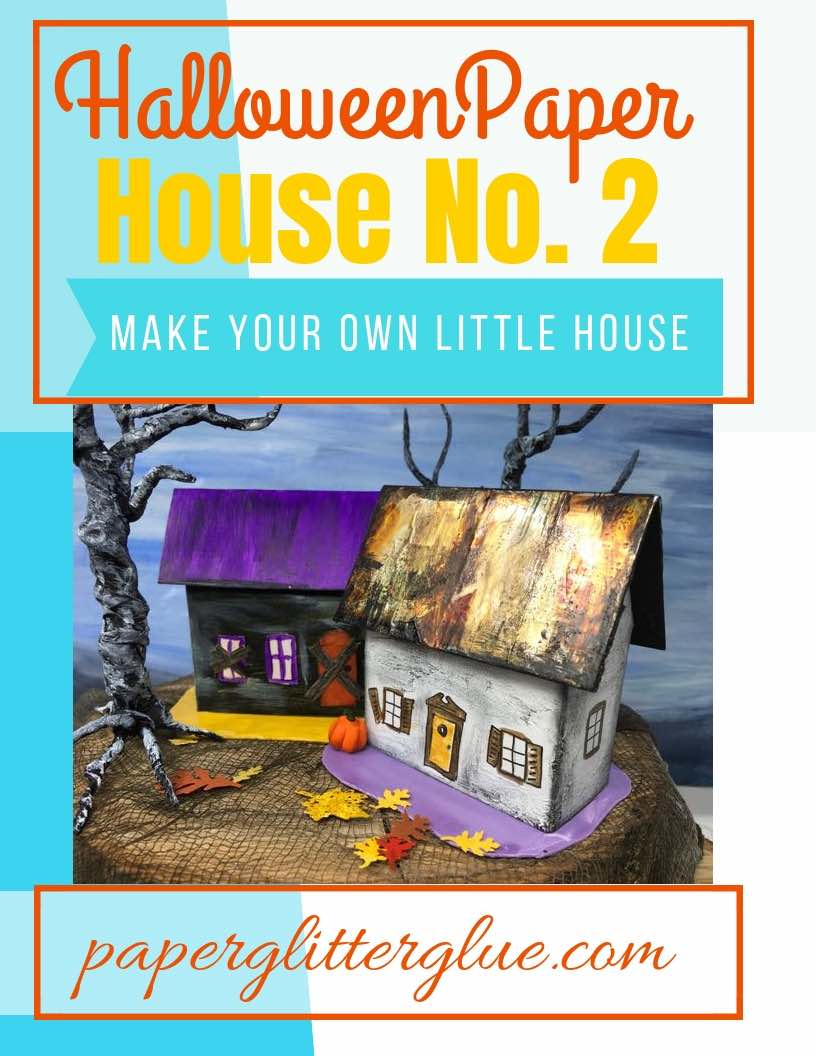 Halloween Paper House No. 2 - Miniature paper houses for your Halloween village
