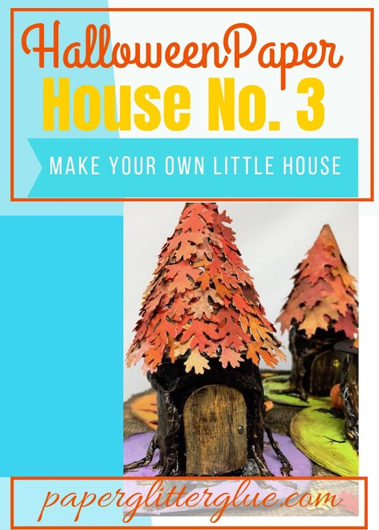 Halloween Paper House No. 3 Make Your own little paper house with a tree stump base