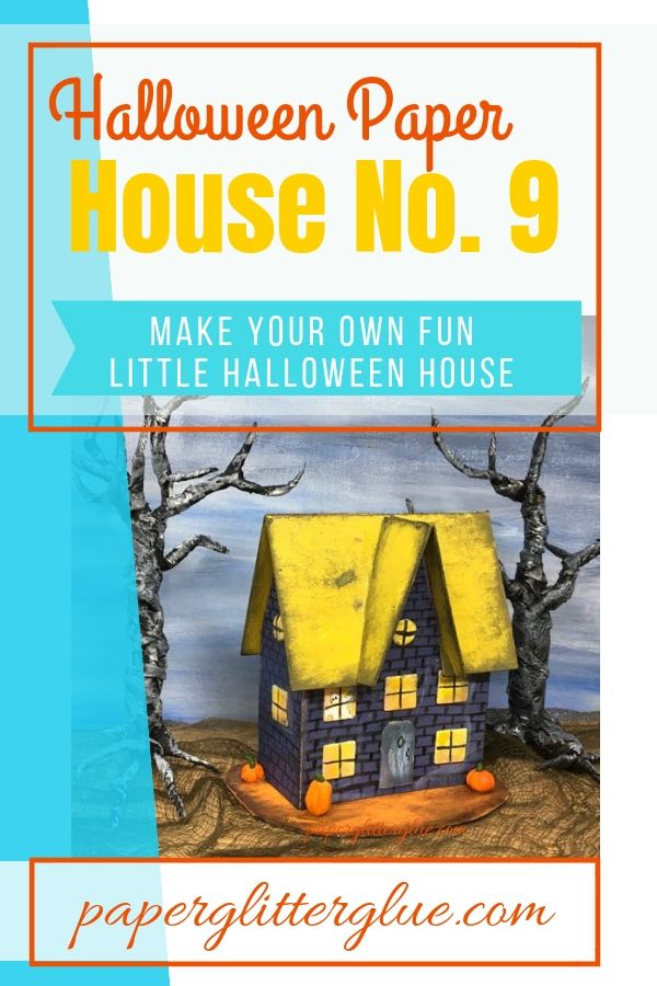 Halloween Paper House No. 9 #halloweenhouse #paperhouse #diyhalloween