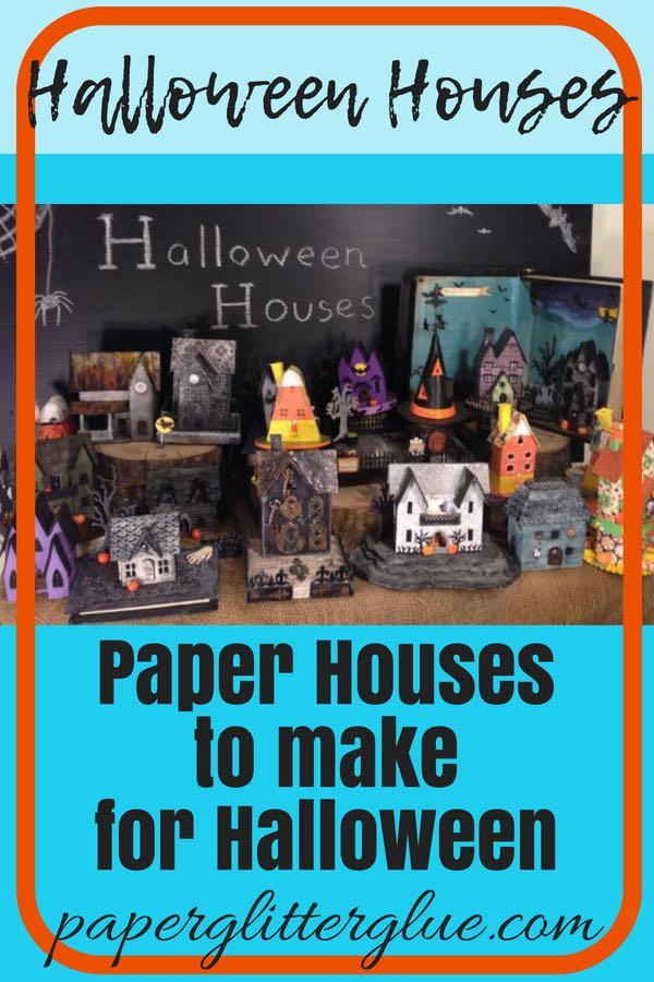 Halloween Paper Houses for a Head Start fundraiser |#putz houses #halloweenhouses