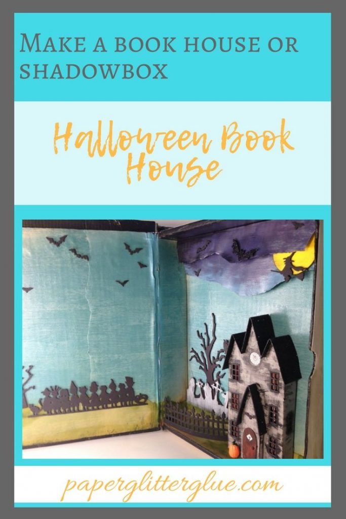 Halloween Book house pin