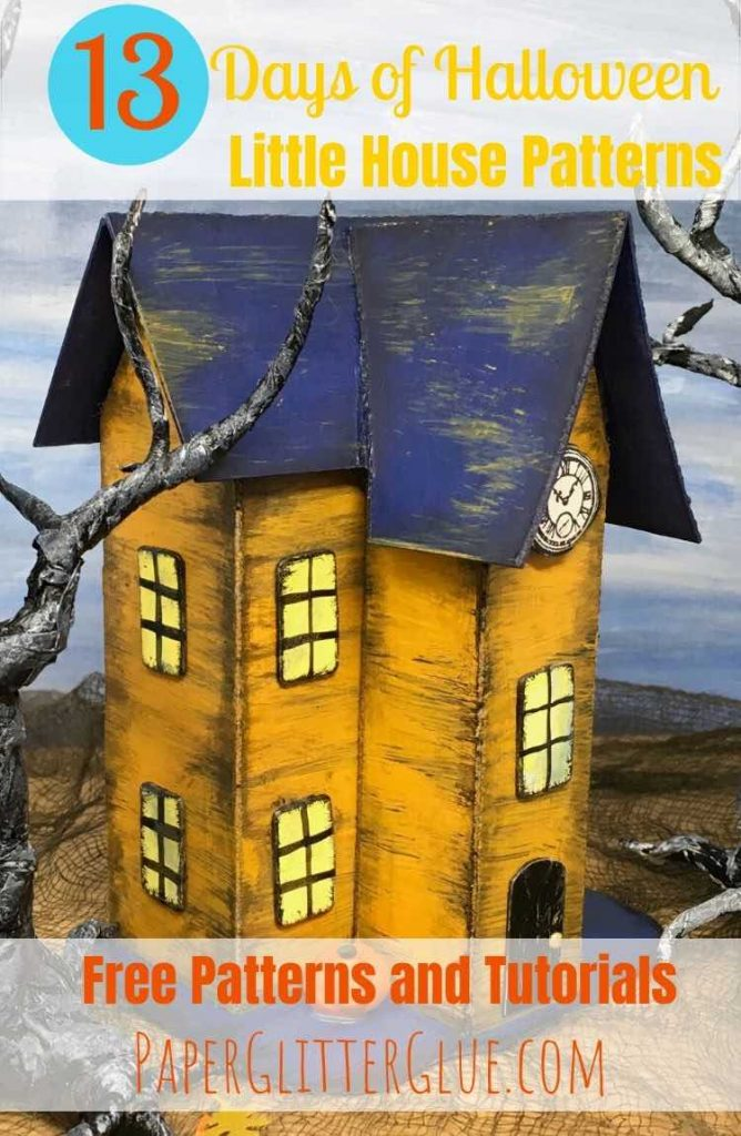 Halloween house no 10 paper house pattern