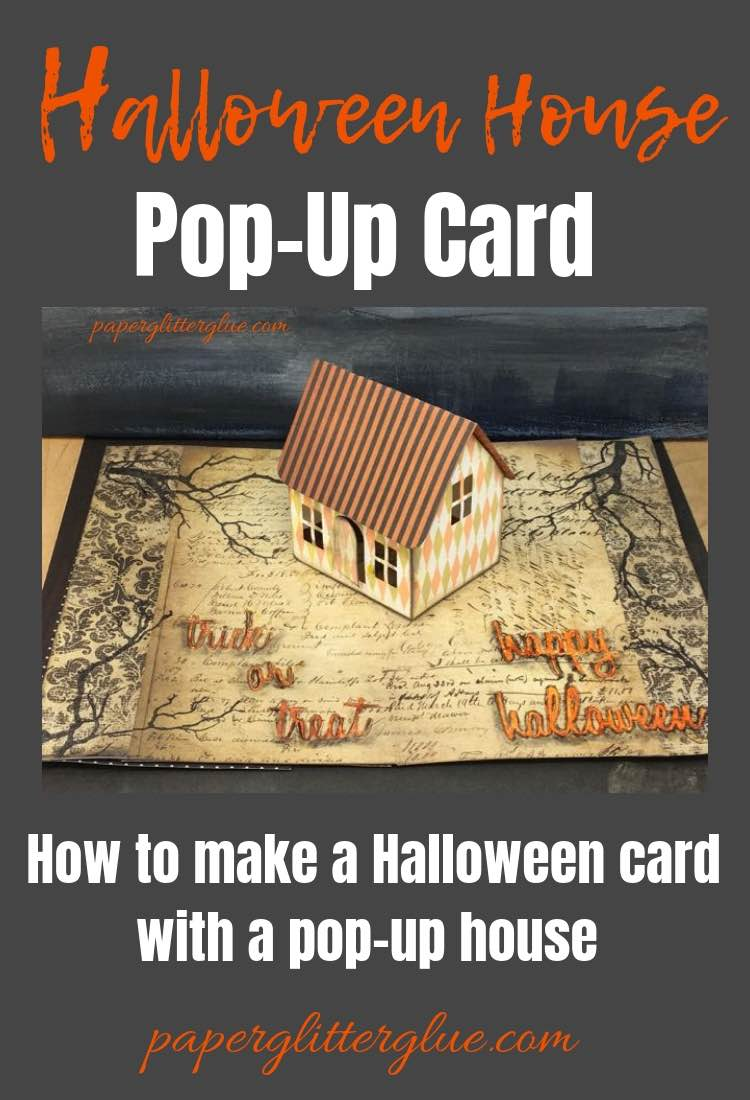 How to make Halloween House pop-up card