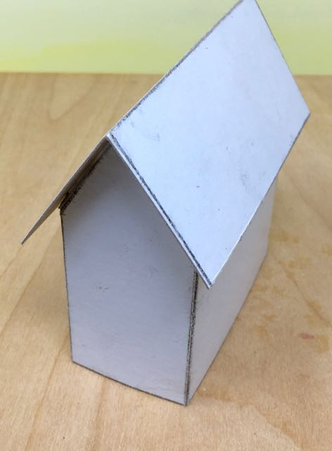 Structure of Halloween paper house 2 before painting