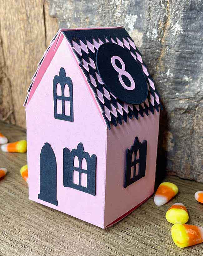 Halloween paper house candy box no.8