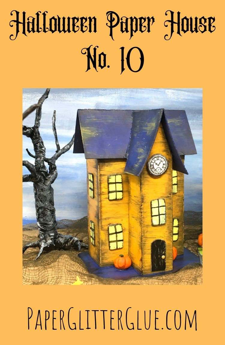 Halloween paper house no 10