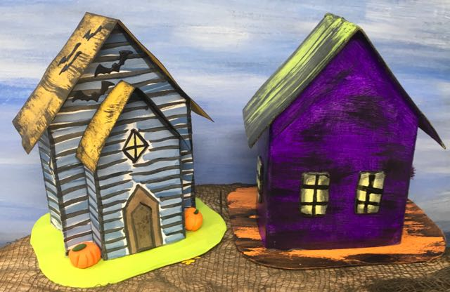Halloween paper house pattern no. 5 for 13 days Halloween