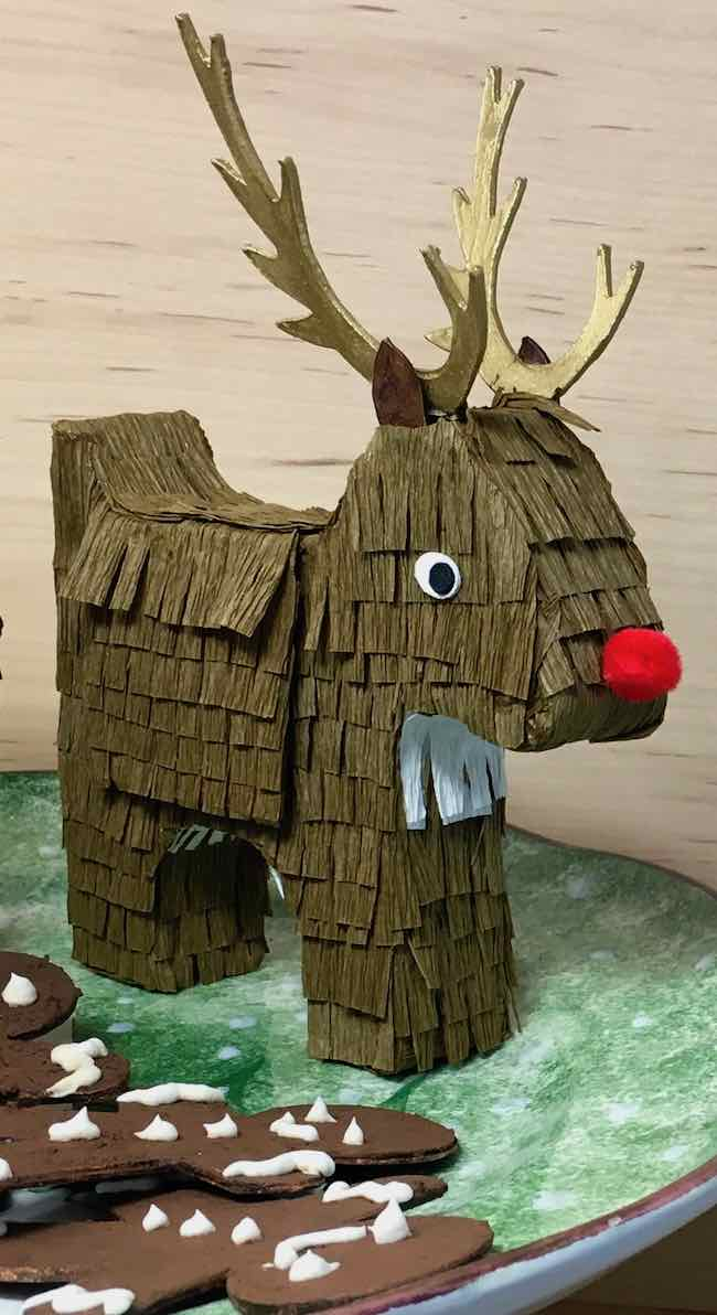 Happy HollyDeer Reindeer Candy Box Pinata