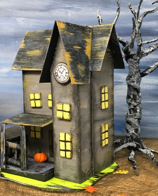 Haunted Boarding House Halloween Paper House