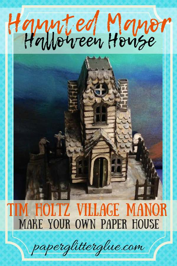 Haunted Village Manor paper house pin