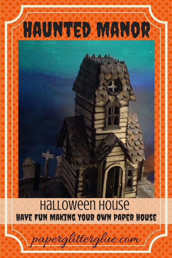 Haunted Village Manor paper house
