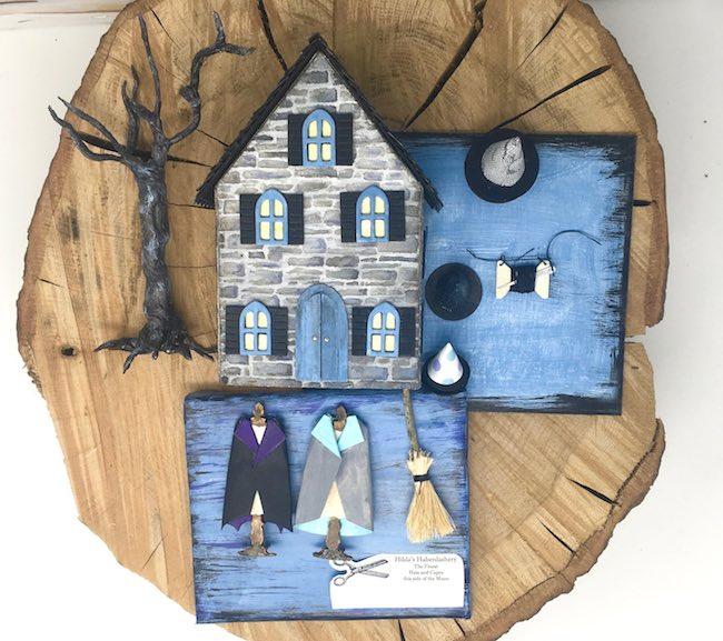 Hilda Haberdashery Halloween paper house shop