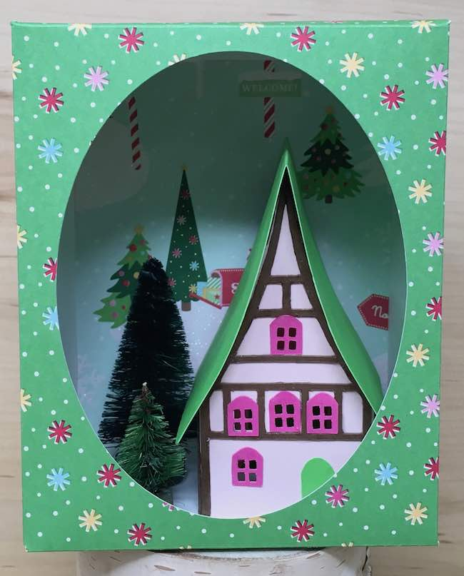 Holiday Paper House Ornament