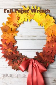 How to Make a Fall Paper Leaf Wreath