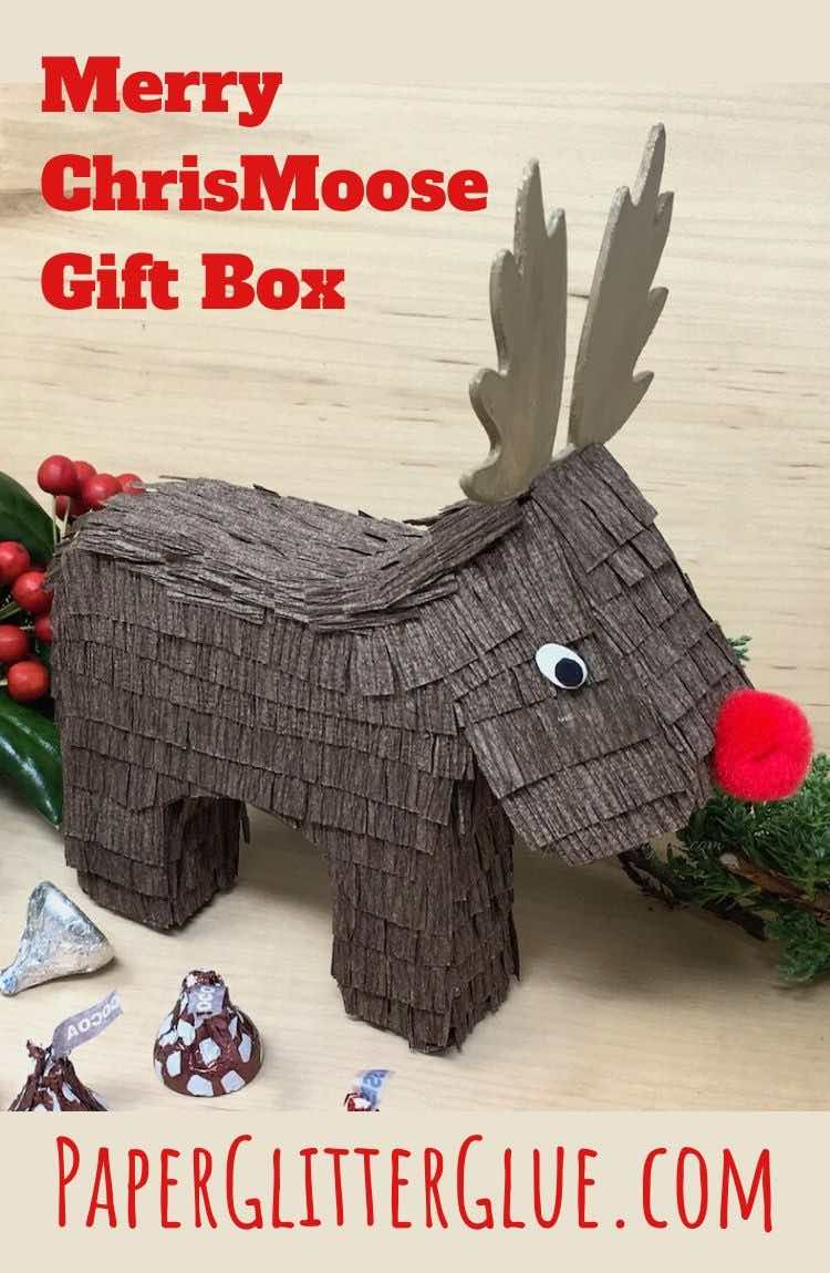 How to make Merry ChrisMOOSE gift box