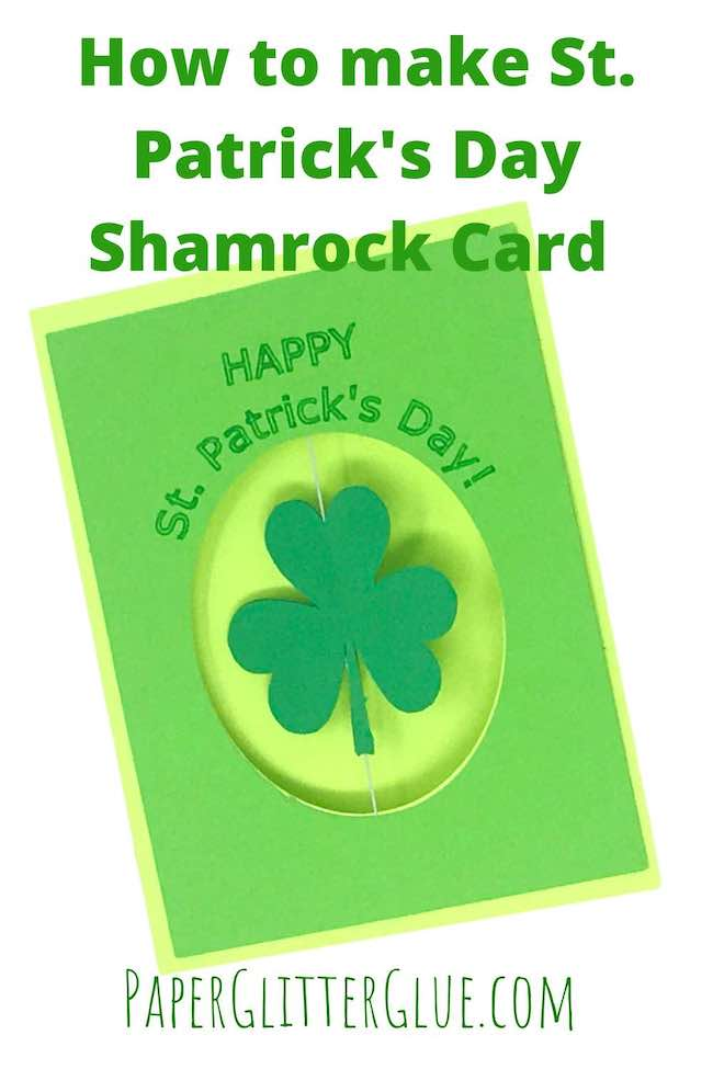 Shamrock spinner card Happy St. Patrick's Day