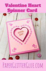 Valentine Spinner Heart card pattern