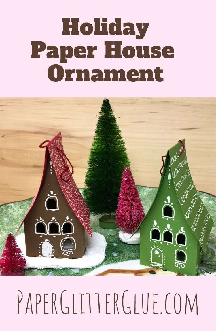 How to make a holiday paper gingerbread house ornament