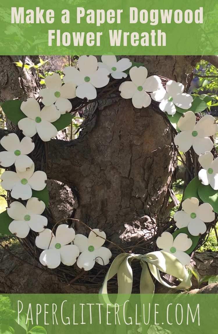 How to make a paper dogwood flower wreath
