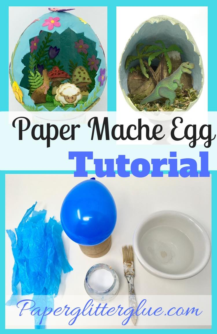 How to make a paper mache egg tutorial