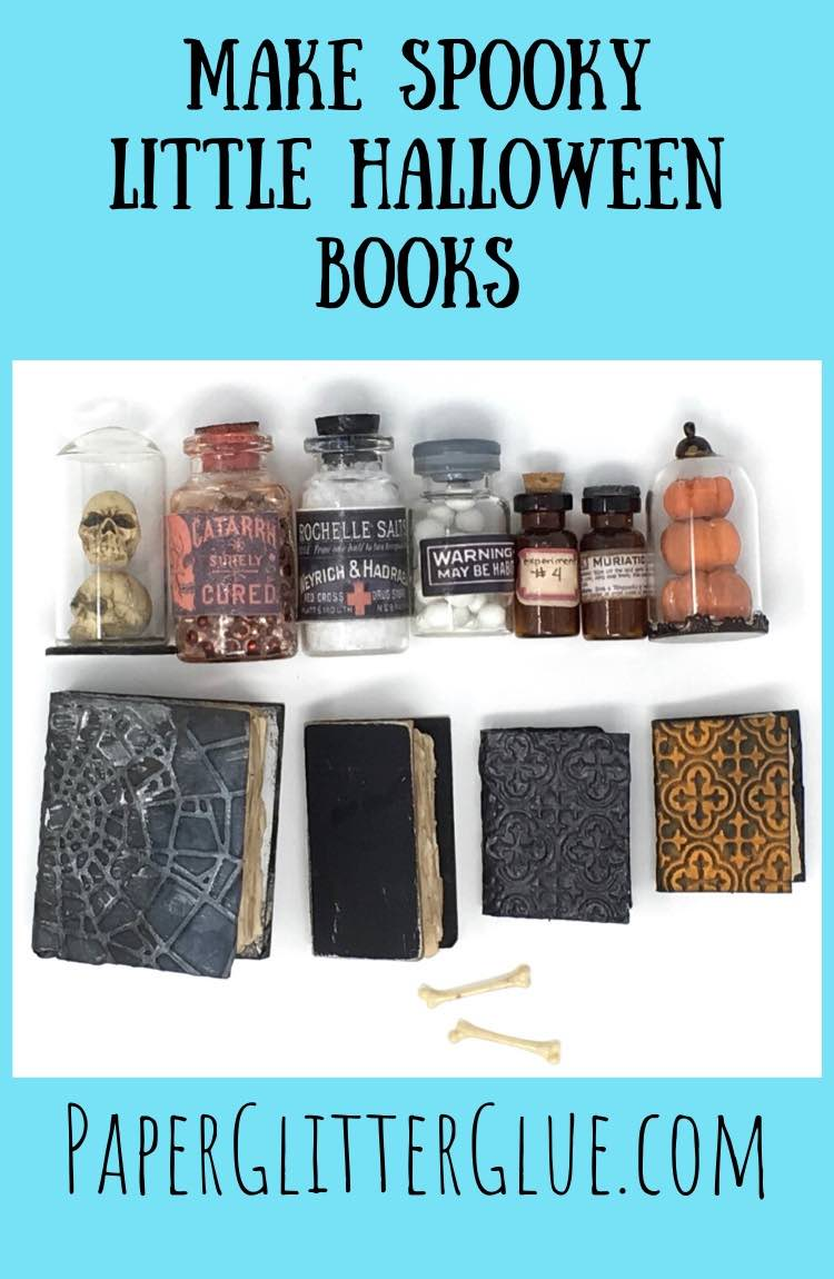 How to make miniature books for Halloween