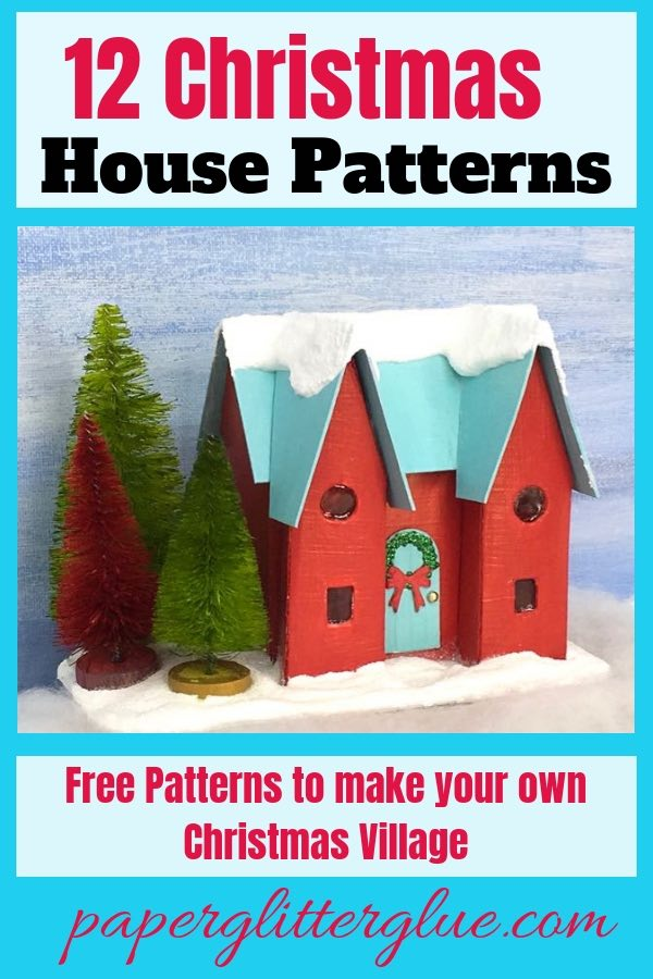 How to make the Happy Holiday House Christmas Putz House No. 8