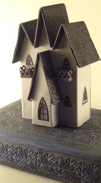 Triple Gable Gothic Halloween House
