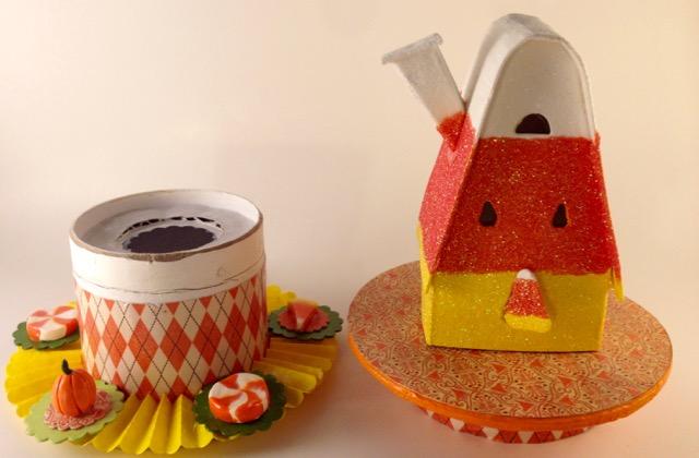 Candy Corn House three