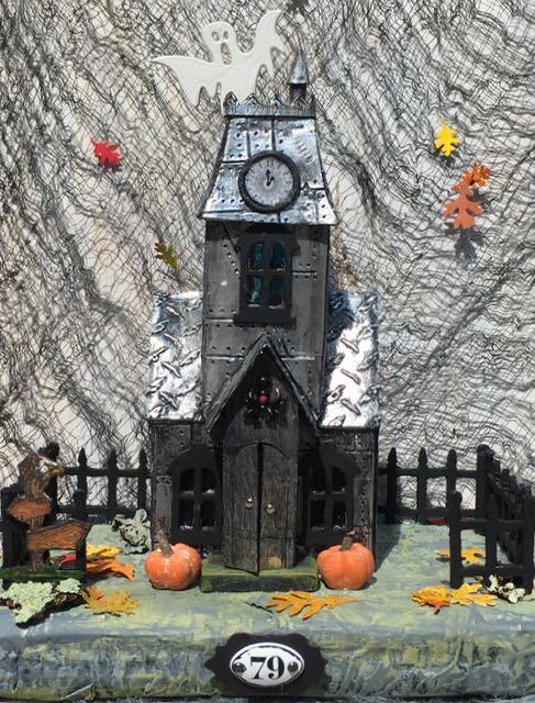 Metallic Village Manor Haunted Halloween House