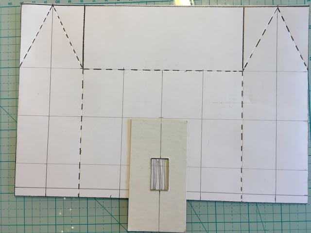 Window template for cutting putz house windows #putzhouse #paper #pattern