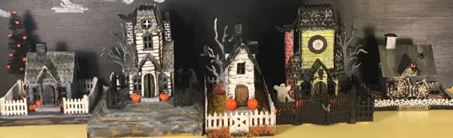 Tim Holtz Halloween Paper houses