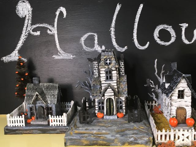 Tim Holtz Village Manor paper house for Halloween