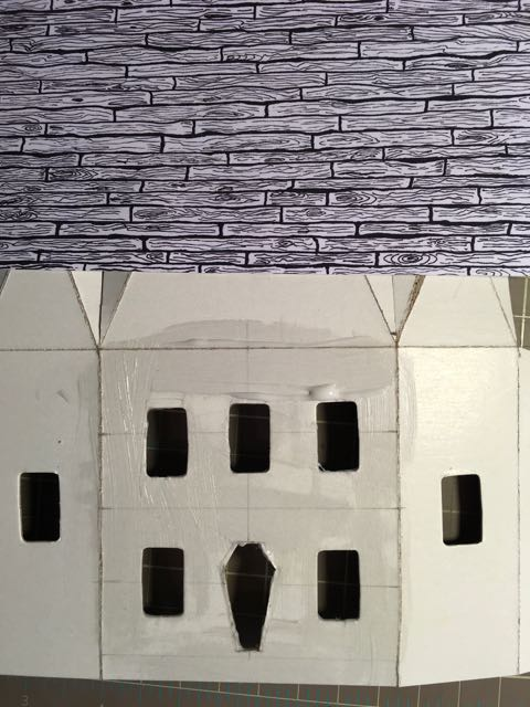 Paper design to adhere to house pattern