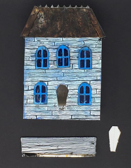 Widow's Walk Halloween house structure done
